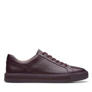 Clarks Un Maui Lace Aubergine Leather Womens Shoes